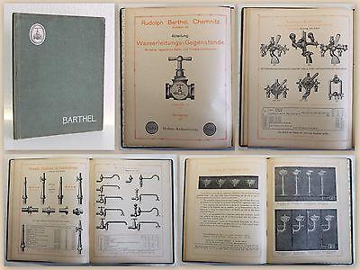 Katalog Barthel Chemnitz 1914 Armaturen Wasserhähne Waschbecken Jugendstil xy