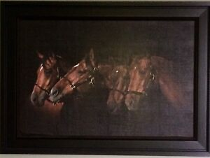 Framed Canvas Horse Painting
