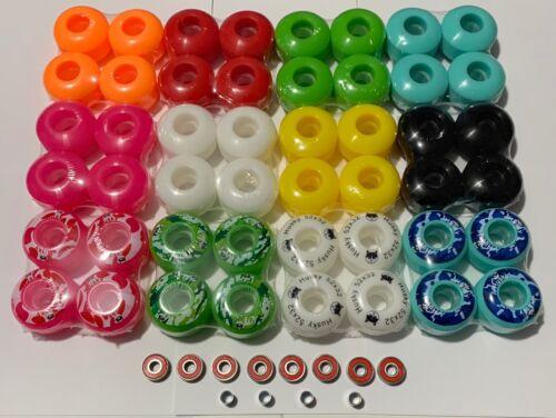 Brand New Blank 52mm Skateboard Wheels 95A & ABEC7 Bearings & spacers US Seller