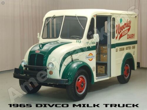 1965 DIVCO Milk Delivery Truck New Metal Sign: Cloverkill Farms - Fully Restored