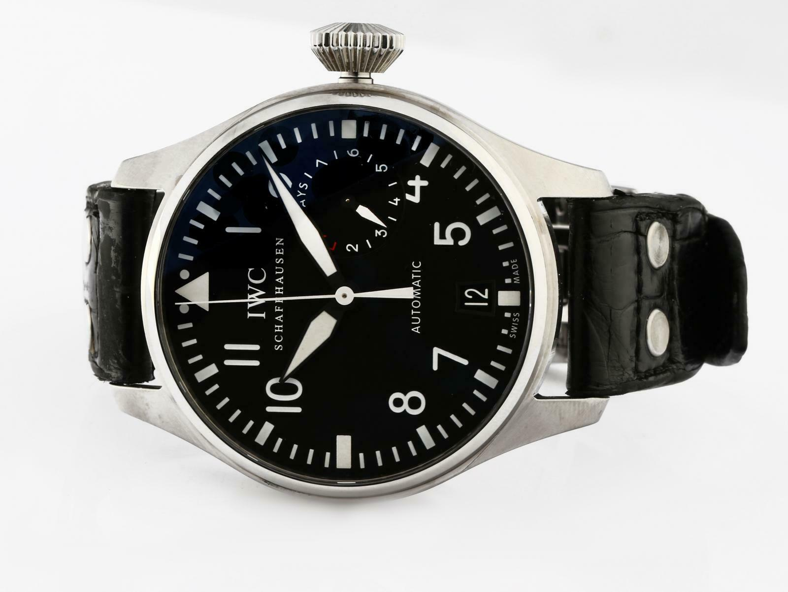 IWC SCHAFFHAUSEN Big Pilot Ref# 5009 Automatic Power Reserve Wristwatch - watch picture 1