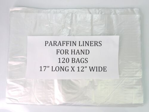 Plastic Paraffin Liners for Hand 120 Bags