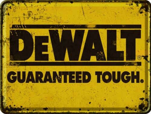 Reproduction Vintage Sign DeWalt Tools Signs For Man Cave, Garage, Shed
