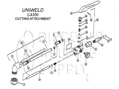 Repair Kit Uniweld Model Ca350 350 550 Cutting Torch Basic Rebuild Aunca350rk