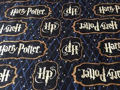 Harry Potter Logo fabric fat quarter 50 x 54cm  sewing, craft
