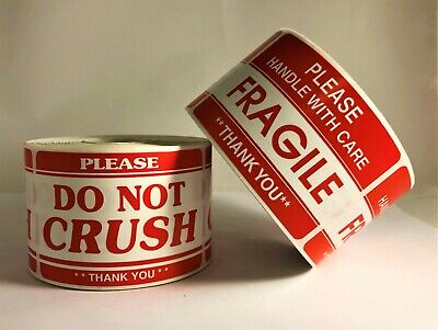 Please Fragile Do Not Crush Shipping Caution 1 Rl Ea 500 Labels Ea Roll