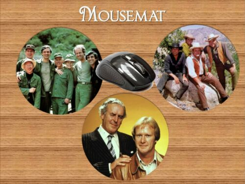 1970s ICONIC TV SHOWS ROUND MOUSEMAT MINDER MAGNUM SWEENEY CHARLIES ANGELS
