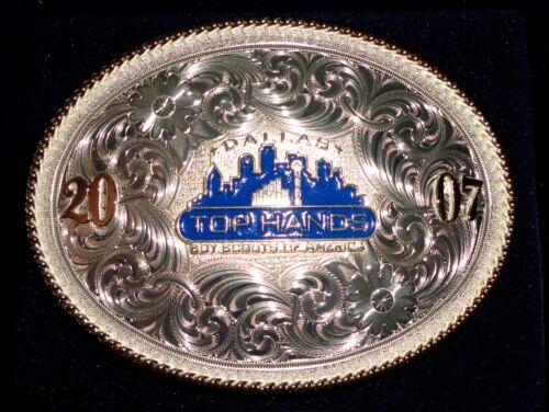 Boy Scouts of America BEAUTIFUL Top Hands Belt Buckle - Montana Silversmiths