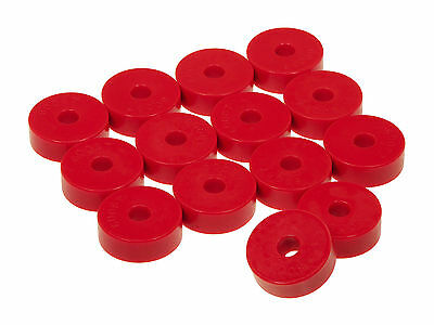 Prothane 55 73 Jeep Cj5 Cj7 Willys Body Mount Bushings 14 Pieces Kit  Red