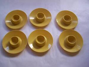 Pale Yellow Vintage Egg Cup x 6 CAN POST Retro 1970's Wynyard Waratah Area Preview