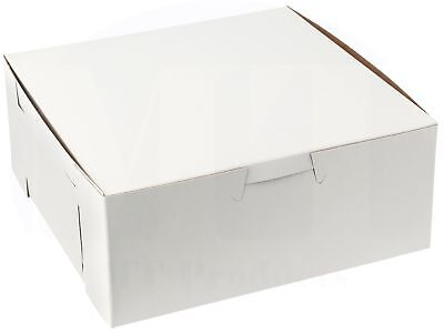 6 X 6 X 2.5 Clay Coated Paperboard White Bakery Box - 15 Pieces