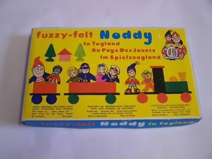 Retro 1970's Noddy in Toyland Fuzzy Felt CAN POST