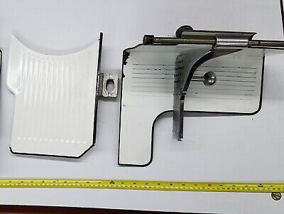 Vintage Globe Meat Slicer Gauge Plate Receiving Tray Chute 75 500 285 300 400