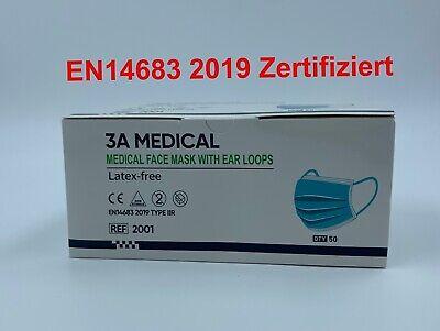 Mund & Nasenschutz Medizinische Latexfrei 3L OP- Einwegmaske CE/EN Zertifiziert