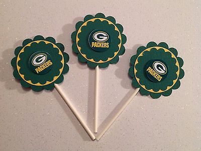 Nfl Green Bay Packers Cupcake Toppers - Packers - Packers Deco - Packers Toppers
