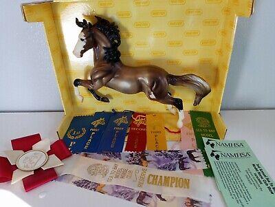NIB RESERVE CHAMP Breyer 2007 Treasure Hunt Silver Dun Sabino w/NAN Cards