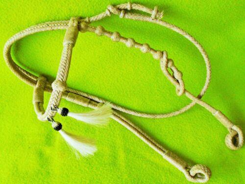 SUPER Quality Vintage UNUSED Tight FLAT Braid RAWHIDE Headstall~Bosal Hanger