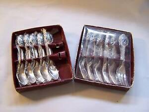 Ceramic Rose Handle Spoon & Cake Fork Set CAN POST Wynyard Waratah Area Preview