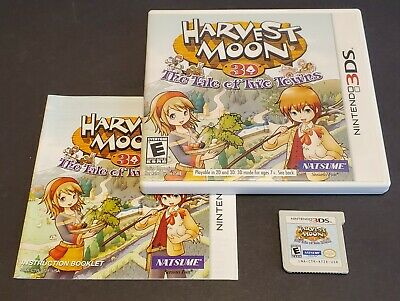 Harvest Moon 3D: The Tale of Two Towns (Nintendo 3DS, 2011) CIB comprar usado  Enviando para Brazil