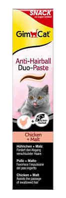 GimCat Anti-Hairball Duo-Paste Hühnchen + Malz. 20 Katzen Snack Gimpet  ()