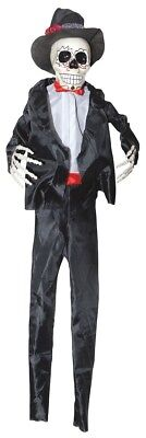 Hanging Day of the Dead Male Skeleton Halloween Decoration Prop NEW - Day Of The Dead Male
