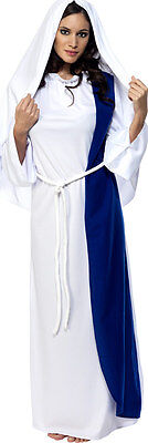 Damen Jungfrau Maria Weihnachten Geburt Religiös Kostüm Kleid Outfit