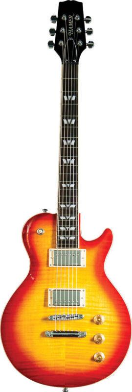 Hamer Monaco Electric Guitar, Cherry Sunburst MONF-CS-D w/Case SALE!
