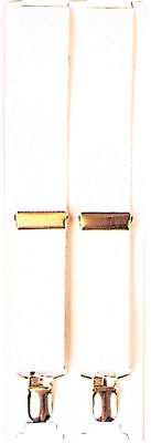 Morris Costumes New 7/8 Inches Wide Classic Look 1890S White Suspenders. BB37WT