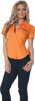 Morris Costumes Women's Prisoner Fitted Shirt Adult Small. UR28314SM