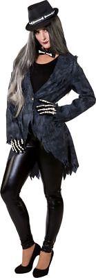 Jack Skelett Kostüm (Orl - Damen Kostüm Jacke Vampirin Zombie Skelett Halloween)