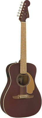 fender acoustic Malibu Player Walnut Fingerboard Burgundy Satin rare EMS F/S