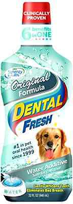 Dental Fresh Water Additive - Original Formula for Dogs 32 oz .
