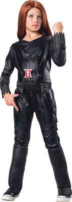 Morris Costumes Girls Marvel Superhero Widow Jumpsuit Black 12-14. RU620044LG - Marvel Girls Costumes