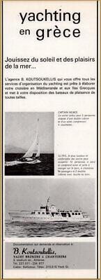 1969 B Koutsoukellis Yacht Broker Charter Illyris Captain Nemo Sail Print Ad