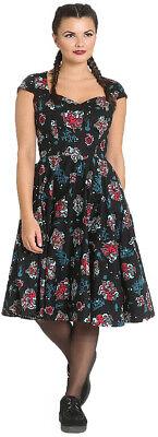 Hell Bunny POSEIDON Anker OCTOPUS Sea Print SWING DRESS Kleid Rockabilly
