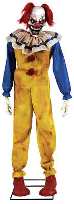 Morris Costume 5 Feet Twitching Scary Looking Evil Clown Animated Prop. MR124395 - Scary Clown Props