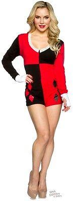 Harley Quinn Symbol Romper Pajama DC Comics Sleepwear](Harley Quinn Pjs)