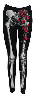 Spiral Direct ROSE BONES Leggings - Allover Comfy Fit - Girls Skeleton Leggings