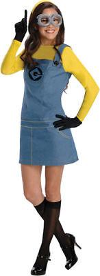 Morris Costumes Women's Despicable Lady Minion Complete Costume XS. RU887200XS (Ladies Minion Costume)