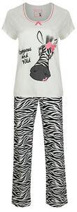 Marks-Spencer-Cotton-Zebra-Pyjamas-Set-M-S-Animal-Print-Womens-PJs-Nightwear