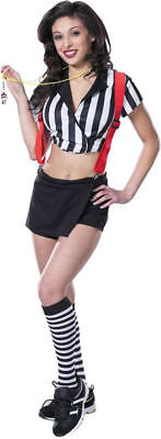 Morris Costumes Women's Polyester Midriff Top Rowdy Referee Costume M. CS394MD