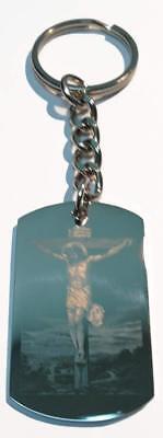 Christian Jesus Christ Cross Lord's Prayer Double Sided Meta