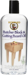 Howard BBB012 Butcher Block and Cutting Board Food Grade Safe Mineral Oil 12 oz
