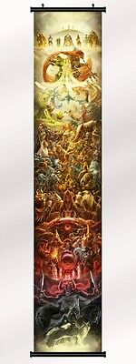 """the legend of zelda 25th anniversary Fabric poster with wall scroll 71""""x13"""""""