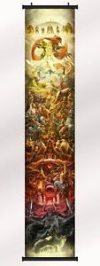 the legend of zelda 25th anniversary Fabric poster wall scroll 71