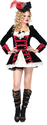 Morris Costumes Adult Women's Pirate Charming Captain Black Red L. UA83792LG