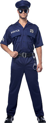 Police Officer Cop Uniform Navy Adult Men - Policeman Costume For Men