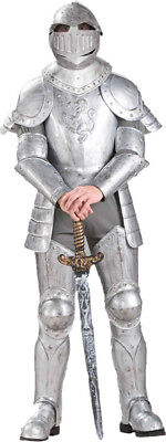Knight In Shining Armor Halloween Costume (Morris Costumes Adult Men's Medieval Knight In Shining Armour One Size.)