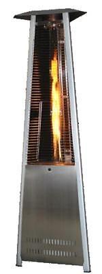 SunHeat Lp Patio Heater Triangle Pyramid Infrared 40,000 btu Propane Stainless