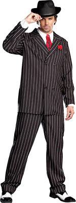 1920s Costumes For Men (Morris Costumes Men's Long Sleeve 1920S Gangster Suit Black White L.)